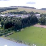 """...~ Blick über den Sportplatz bis zum Industriegebiet """"An der Allee"""" in Wutha ~..."""